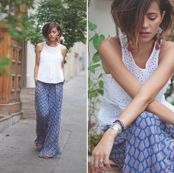How to wear palazzo pants http://www.justtrendygirls.com/how-to-wear-palazzo-pants/