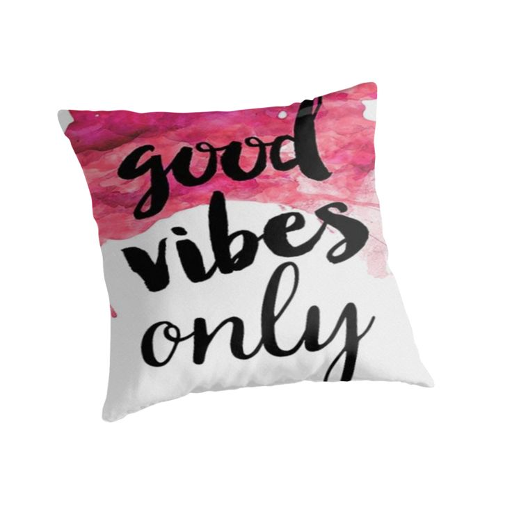 GOOD VIBES ONLY PINK  by RoxanneVarza