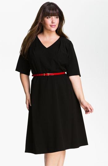 Calvin Klein Belted V-Neck Dress (Plus) available at #Nordstrom