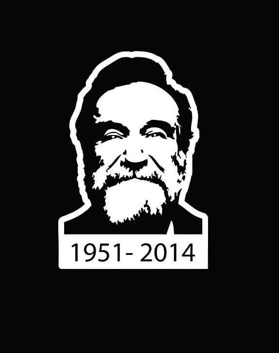 Robin Williams RIP Window Decal Sticker A2   Car Decal