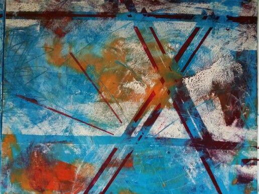 Liz Doyle 'Qualia' dyptych 100 x 160 Oil and mixed media on canvas 2015