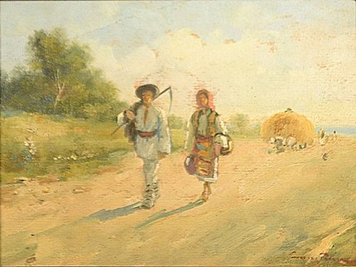 Constion (Constantin Ion) Întoarcerea de la câmp / Returning from the Field