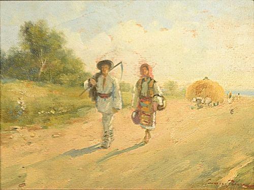 Constion (Constantin Ion) Întoarcerea de la câmp / Returning from the Field