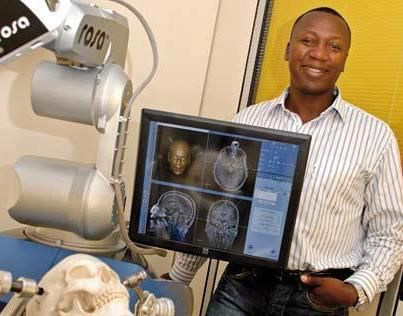 AFRICAN INVENTOR: In 2010, BERTIN NAHUM, from Benin, created ROSA, a robot that helps surgeons performs brain surgery. This invention, used in hospital around the world, made him the 4TH most revolutionary high-tech entrepreneurs in the world; after Steve Jobs, Mark Zuckerberg and James Cameron! He is also the CEO of Medtech, a French company which specialize in robotic surgical assistance.