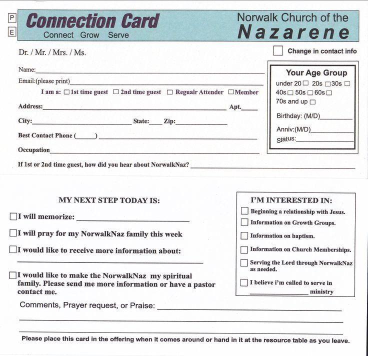 Church Visitor Card Template Word 78 Best Images About