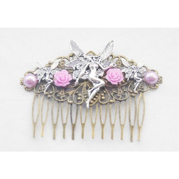 Fairy Hair Clip Girl Hair Comb Silver Fairy Hair Comb Fairie Hair Clip... ($39) ❤ liked on Polyvore featuring accessories, hair accessories, decorative combs, silver, hair clip comb, barrette hair clips, silver hair accessories, silver hair clips and silver comb