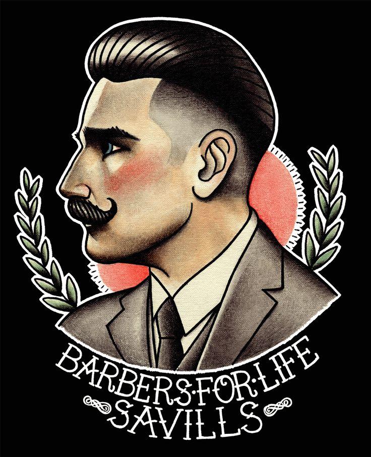 The final look for Savills Barbers tshirt design.