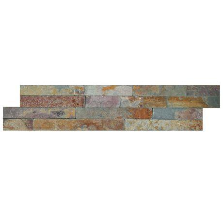 produktinformation brick schiefer multi 15 x 60 cm naturstein im modul format als wandverkleidung fr - Bad Schiefer Beige