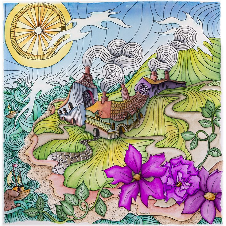 coverack from lizzie mary cullen book magical city colored by me brush markerscolouring techniquesadult coloringcoloring booksmagic - Magic Marker Coloring Book