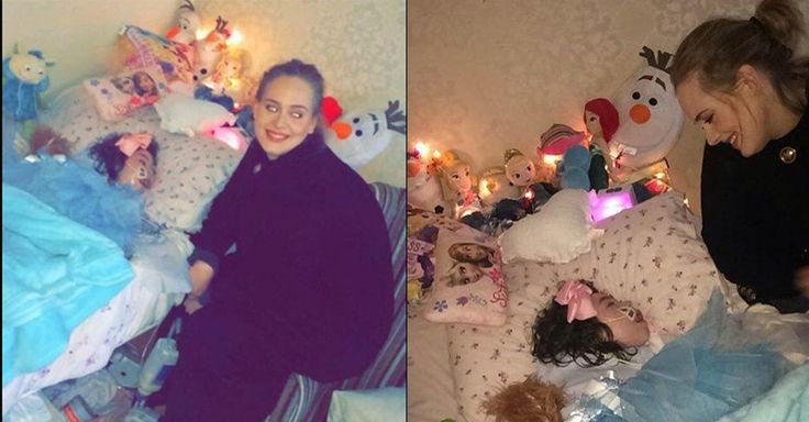 Adele visits seriously ill girl with epilepsy bedside