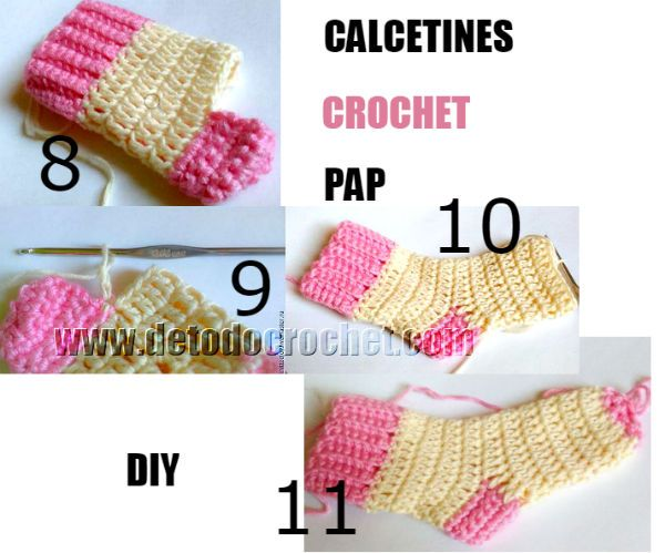 Todo Crochet Calcetines Crochet Calcetines De Ganchillo Croché