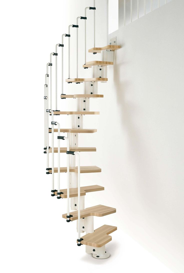 Arke Karina Space Saving Stair Kit - White metal-work, Light Beech treads # From…