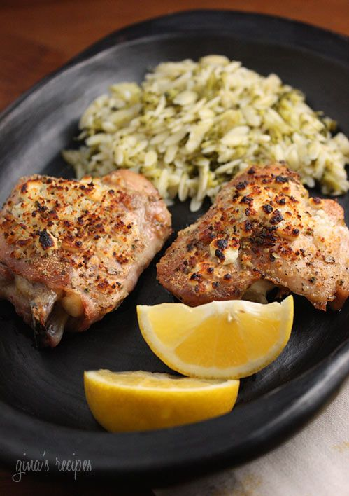 Mediterranean ingredients such as lemon, oregano and feta cheese makes your everyday chicken dinner spectacular. Lemon Feta Chicken with Oregano | Skinnytaste