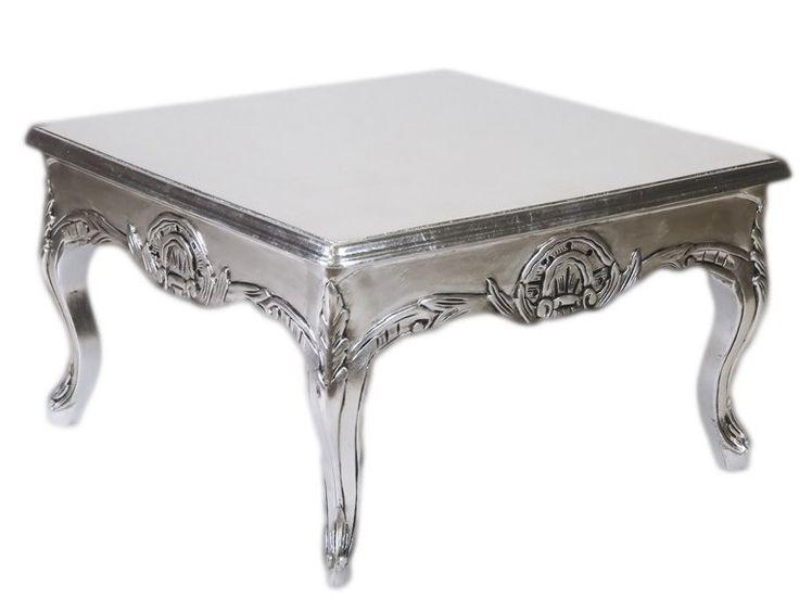Casa Padrino Barock Beistelltisch Silber 80 x 80 cm - Couchtisch – Bild 1