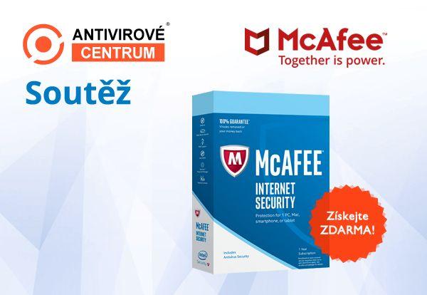 Soutěžte s námi o  McAfee Internet Security: https://www.antivirovecentrum.cz/aktuality/intel-mcafee-internet-security-zdarma.aspx