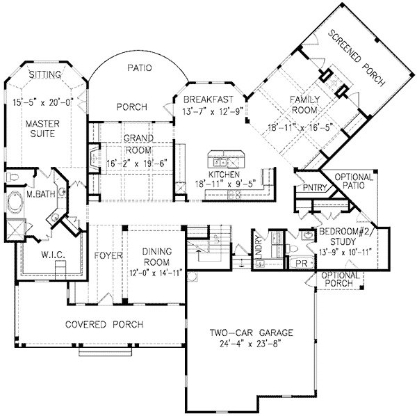 1000 images about house floor plans on pinterest for One story low country house plans