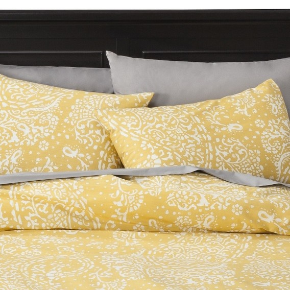 Target Threshold Gully Paisley Duvet Cover Set Yellow