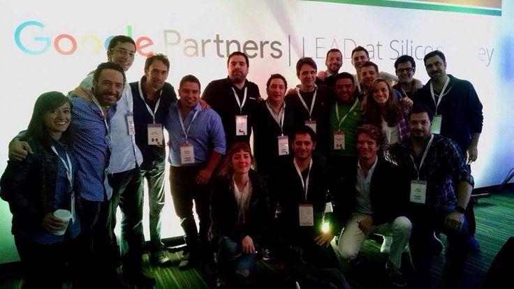 Participantes del #GooglePartnersLEAD 2015 en Silicon Valley, California.