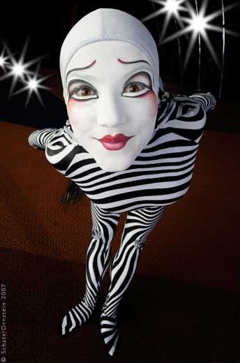 Cirque du Soleil - Zebra Portrait by Howard Schatz