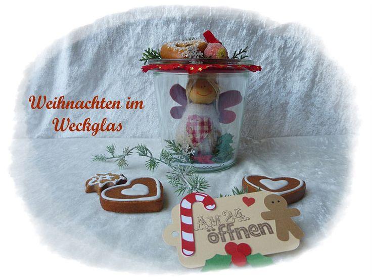 Stoffengel im Weckglas Weihnachten im Glas von Die Geschenkidee auf DaWanda.com