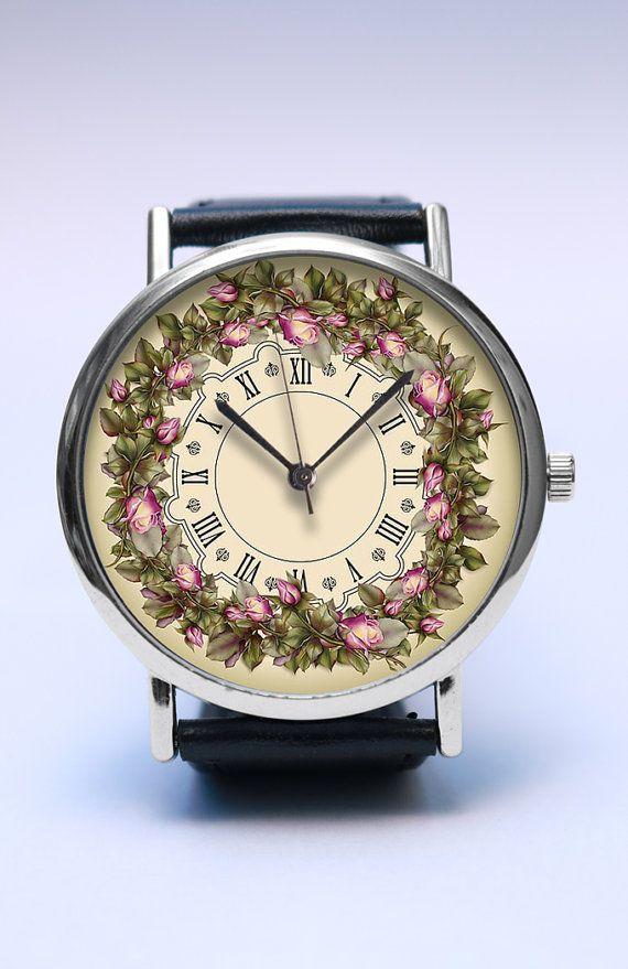 Floral Handmade Watch Flower Wreath Watch Spring by LovuTimepieces