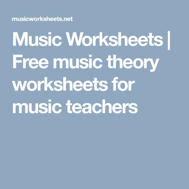 Music Worksheets | Free music theory worksheets for music teachers