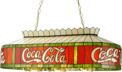 "Meyda Coca Cola 40"" x 20"" Pool Table or Island Pendant Art Deco, Art Nouveau, Rustic & Eclectic Pool table & Island Lights - Brand Lighting Discount Lighting - Call Brand Lighting Sales 800-585-1285 to ask for your best price!"