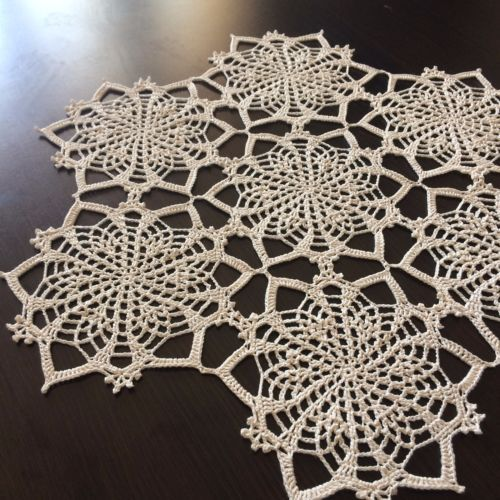 Romance-Handmade-Lace-Crochet-Doily-Centerpiece-Tablecloth-Wall-Decor-White