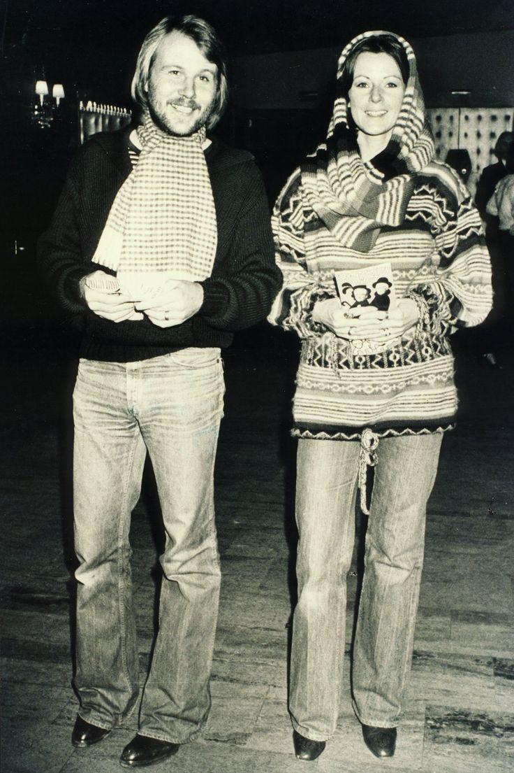 Frida and Benny in Stockholm, 1978