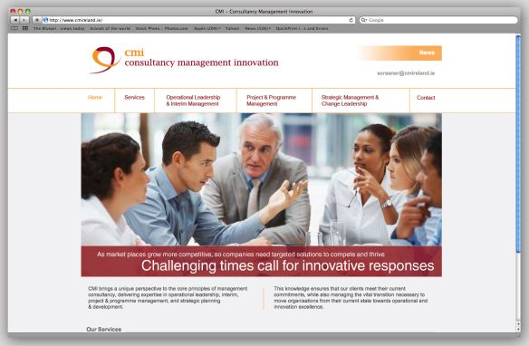 CMI Consultancy Management Innovation website. www.akgraphics.ie