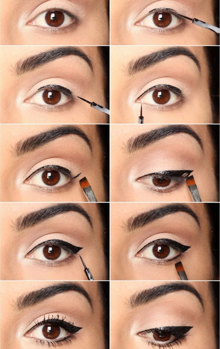 how to apply eyeliner make up pinterest. Black Bedroom Furniture Sets. Home Design Ideas