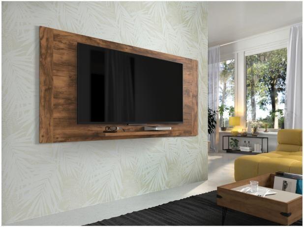 Painel Para Tv Ate 55 Premium Orlando 1 Prateleira Ajustavel
