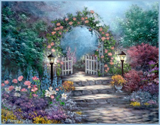 Flower Garden Paintings 226 best art | flower gardens images on pinterest | flower