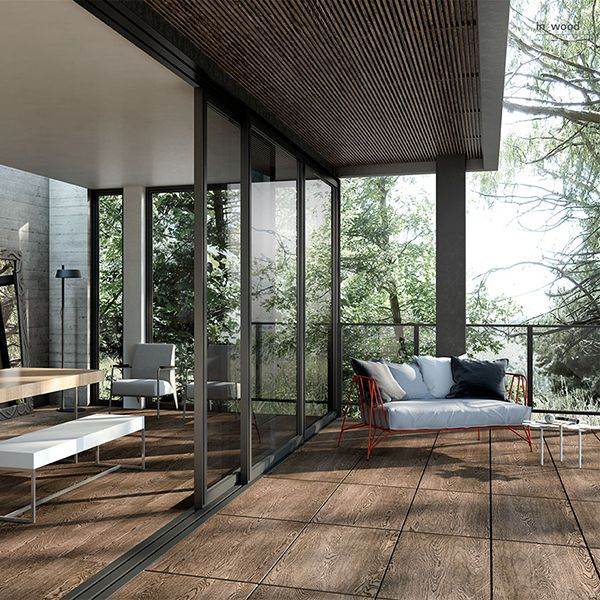 IN_WOOD  Just like the intriguing tale of beauty written between the rugged lines of bark, like the lush copses and ancient evergreens, the new In_Wood by Porcelaingres has the same evocative powers of wood.   Porcelain Tile Wood Effect