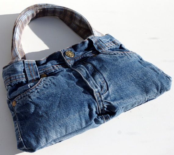 Girl's Denim Bag, Upcycled Denim Bag, Handbag Girls, Jeans Bag