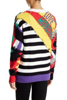 LOVE Moschino Maglia Patchwork Cardigan