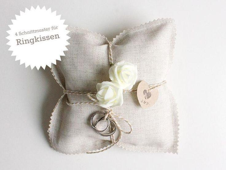 Schnittmuster: Ringkissen zur Hochzeit selbstnähen von DIY Hochzeit auf DaWanda.com