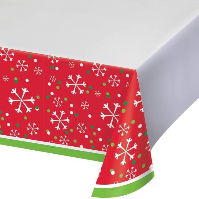 Snowflake Fun Plastic Tablecloth Christmas Party Supplies Party Supplies Hosting Christmas Party
