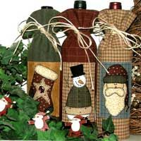 Get your busy on with these Christmas patterns , which include a gift wine bottle holder, an elf tote bag, a jingle bells toy bag holder, an...