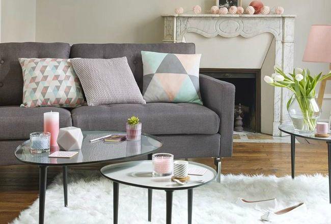 10 coussins pour un salon scandinave d co et salons. Black Bedroom Furniture Sets. Home Design Ideas