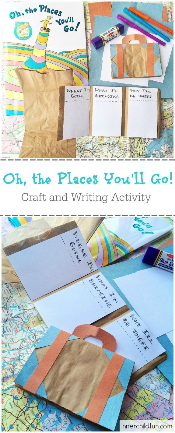 Oh, the Places You'll Go! Craft and Writing Activity (so cute!)