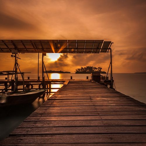 05:42am on Tiger Island