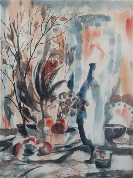'Blue Vase' - Earl W. Gessert (1918-1996)