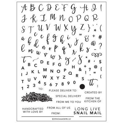 Clear Stamps Set - Handlettering | Perfectly Penned