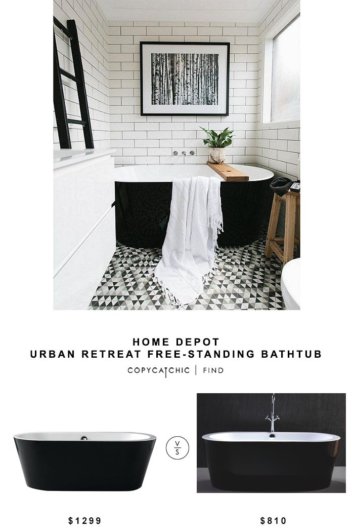 Home Depot Urban Retreat Free-Standing Bathtub | Copy Cat Chic | Bloglovin'