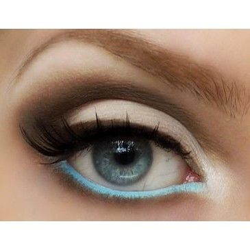 Pop Color Eye Makeup ♥ False Eyelashes For Your Wedding Day - not sure about the false eyelashes, but I love the colors!