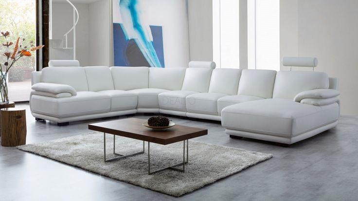 Juliet Leather Modular Lounge Option B - Lounge Life