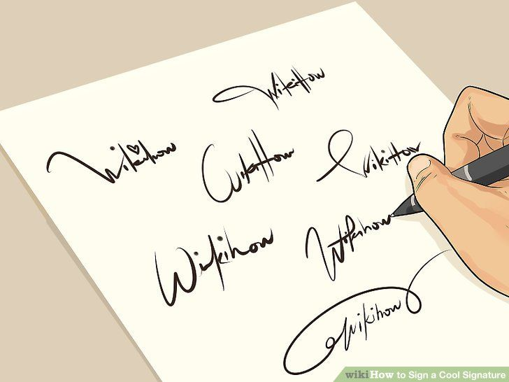 How to Sign a Cool Signature-My kids print their signatures.  It may be old fashioned, but I want them to learn this.
