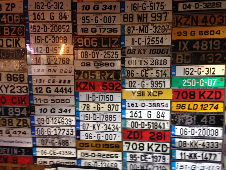 https://flic.kr/p/KvBJq3 | Some of my collection of irish license plates