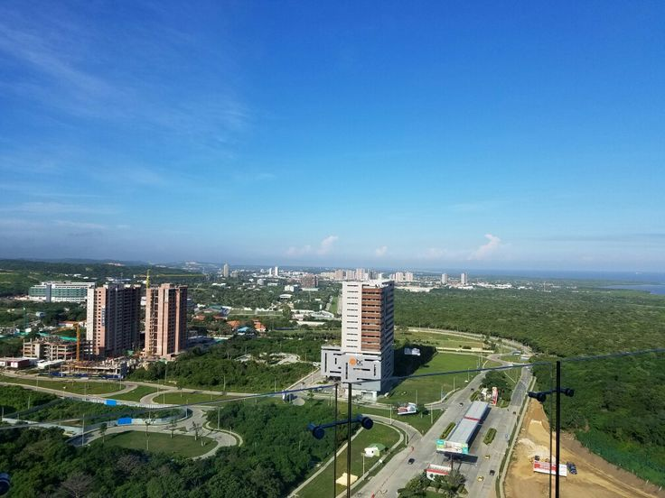 Barranquilla Horizon the big city taking over another municipality view toward Puerto colombia..